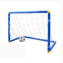 Small Size Kids Sports Soccer Goals with Soccer Ball and Pump Practice Scrimmage Game