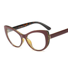 2018 Óculos de Gato Transparente Limpar Frame Mulheres Óculos Óculos de  Miopia Homens Óculos de Armação de Acetato Armações Clar. 95b8e4fa4a