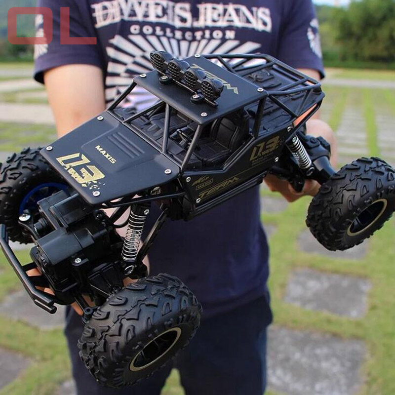 OL Hot RC Car Alloy 4WD 4x4 Driving Car Climbing Dirt Bike Remote Control High Speed Racing Car Model Off-Road Vehicle Truck Toy