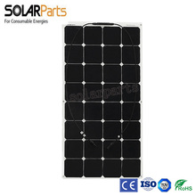 Solarparts 1pcs 100W Factory Cheap 12V flexible PV solar panel cell/module/system / charger battery light kit led out
