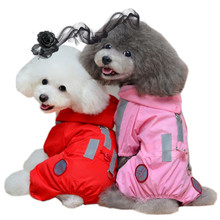 Dog Clothes Pet Dog Raincoat Waterproof Hoody Rain Coat Jacket for Small Dog Outdoor Products Pet Apparel Ropa de Cachorro 35