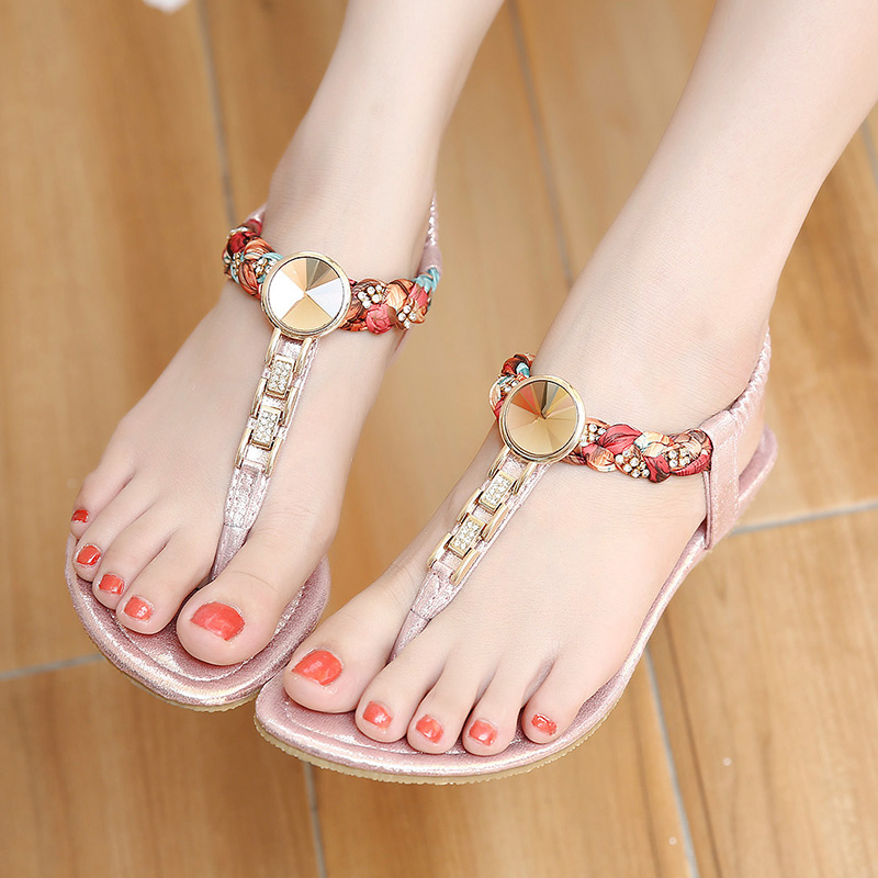 2017 New Summer women flat sandals Ladies Summer Bohemia Beach Flip Flops Shoes Casual Shoes Beach slippers 4 colour<br><br>Aliexpress