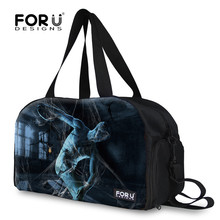 FORUDESIGNS Vintage Spider Silk Printing Large Travel Bag,Men Canvas Weekender Bag for Trip,Famous Brand Male Crossbody Hand Bag