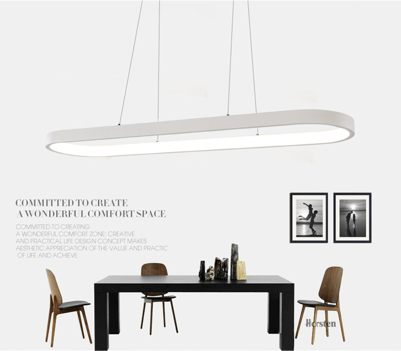 Modern Minimalism Oval Ring LED Pendant Lights Aluminum Acrylic Suspension Hanging Lamps For Dining Room Restaurant Office (22)