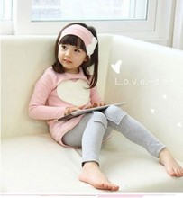 New 2016 love sign baby kids girls clothing sets ( headband + coats + pants ) children outerwear clothes casual girl's suits