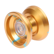 MAGICYOYO K9 Top Refers to the King Aluminum Alloy Yoyo Toys with Hubstack Gold+Blue(China)