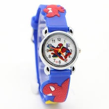 NEW Cartoon cars batman superman Avengers Spiderman Children Watch Good Gift kids watch kids girls fashion wristwatch relogio(China)