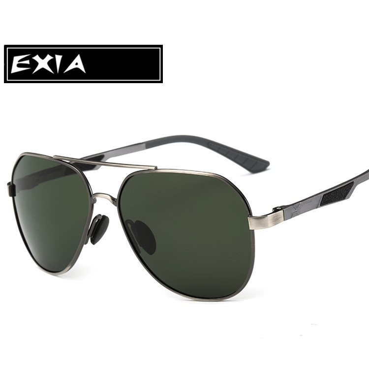 Green Polarized Sunglass Men AR Blue Coatings Anti-Reflective Backside of Lenses EXIA OPTICAL KD-8125 Series<br><br>Aliexpress