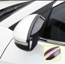 FOR VW POLO VENTO 6R 2009- AUDI A6 C7 JEEP COMPASS Dodge Dart SIDE WING DOOR MIRROR RAIN GUARD VISOR SHADE SHIELD REAR VIEW TINT(China)