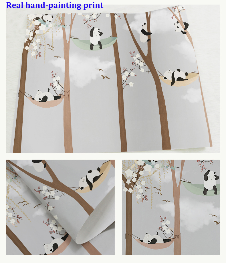 HTB17BZMbKGSBuNjSspbq6AiipXao - Bacaz Large Cute Panda Trees 3D Papel Murals Wallpaper for Baby Child Room 3d Wall Photo Mural Wall paper 3D Wall Murals
