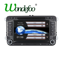 Wondefoo Car DVD Player GPS screen for VW golf 4 golf 5 6 passat sharan jetta caddy polo tiguan touran transporter SEAT skoda