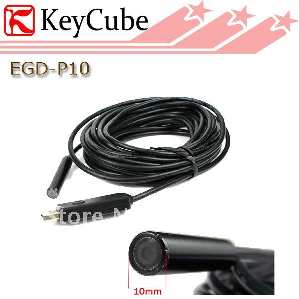 Mini 7M Cable 10mm Lens Borescope High Quality Tube Snake Scope Inspection Waterproof Camera With 4 LED Wired Cam Free Shipping<br>