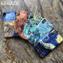 PKR 570.33  21%OFF | Kerzzil For Van Gogh Abstract Art Painting Matte Hard Phone Case For iPhone X XR XS Max 8 7 6 6s Plus Starry Night Back Cover