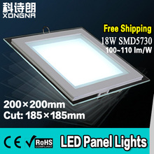 Free Shipping 18W LED Panel Lights Square Shape With Frosted Glass, Kitchen/Bathroom Anti-Fog Downlights(China)
