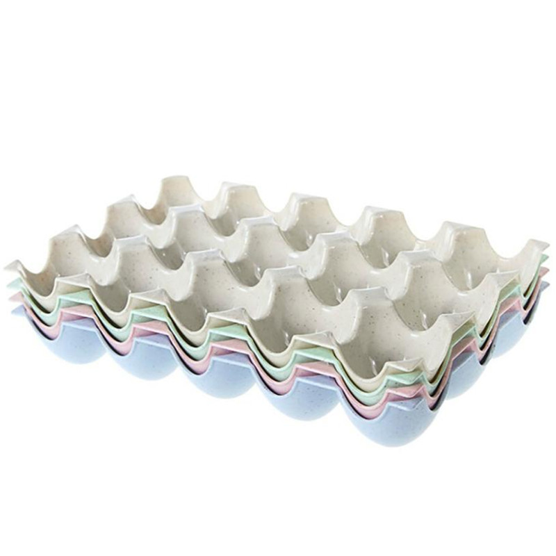 Egg Holder Box Refrigerator Storage Tray For 15Pcs Eggs Shatter-proof 4