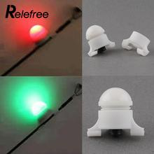 Relefree 10 PCS/LOT NEW White small mini portable high Quality 2 Size in 1 Clip on Bite Alarm waterproof tool outdoor sport
