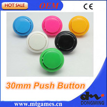 Good Quality 50 PCS/lot 30mm Round Push Button/arcade button with switch, buttons for arcade game machine DIY arcade controller