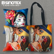 Cushion Summer Etsy Printed Sugar Skull 43x43cm/17x17'' Home Decor Linen Decorative Tote Cojines Decorativos Almofadas 1PCS/lot