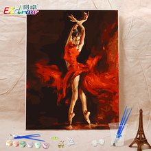 New drawing picture paint on canvas diy digital oil painting by numbers home decoration craft set girl gifts fire dancer