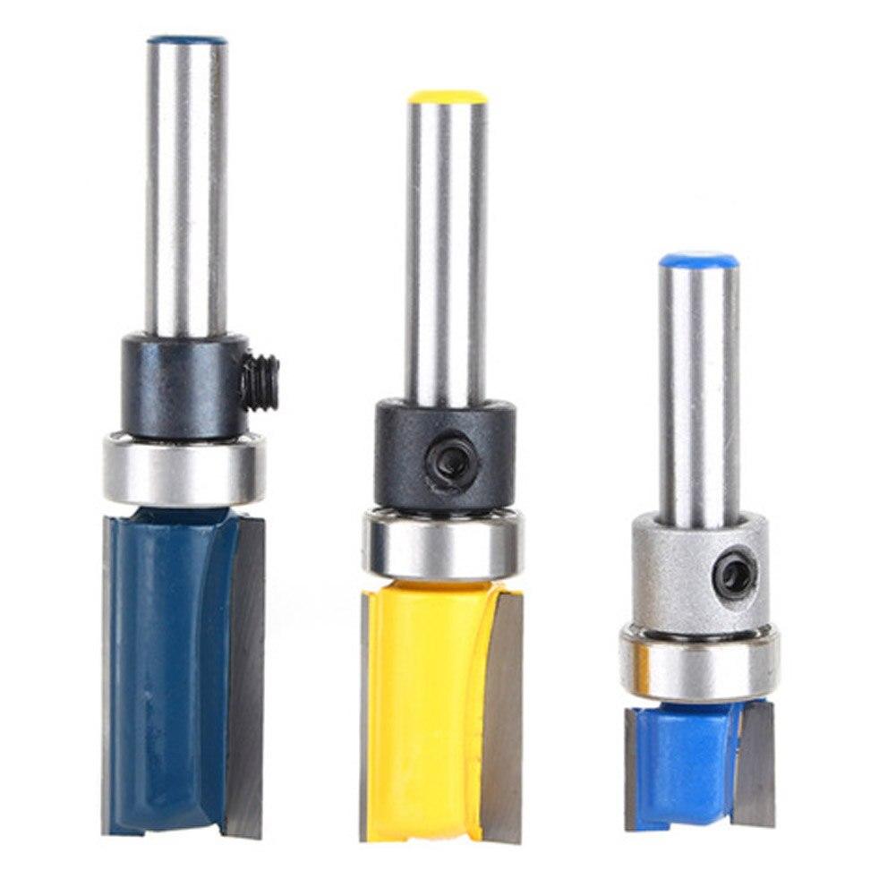 11.9mm /12.7x20mm /12.7x25mm Woodworking Milling Cutter 1/4 Inch Shank Carbide Flush Trim Router Bit Trimmer Woodworking tool