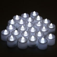 Color Flameless LED Tealight Tea Candles Wedding Party Light Battery Operated HG4939-HG4943