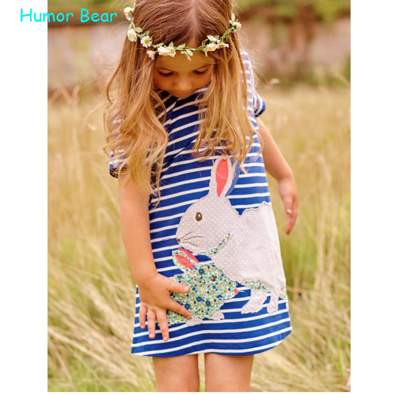 Humor Bear 2016 Baby girls dress style Europe United States Baby Girl Clothes broken beautiful condole belt casual clothes<br><br>Aliexpress