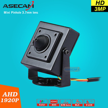 NEW Full HD 3MP Video Surveillance 3.7mm Pinhole Lens Security High Resolution AHD 1080 *1920P Micro Small Mini CCTV Camera