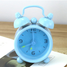 2017 Promotion Mini Digital Alarm Clock 6 Colors Creative Cute Simple Student Bedside Candy Alarm Clock