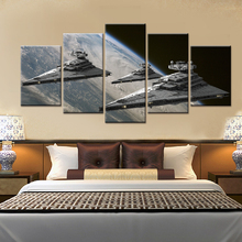 5 Panels Movie Poster Star Wars Star Destroyer Modern Home Wall Decor Canvas Picture Art HD Print Painting On Canvas Artworks(China)