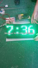 free shipping Wholesale price high brightness p10 semi-outdoor LED message text sign green color p10 led module 32*16 dots