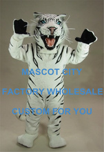 White Tiger Mascot Costume Adult Size Wild Animal Theme Carnival Party Cosply Mascotte Mascota Fit Suit Kit FREE SHIP SW1067