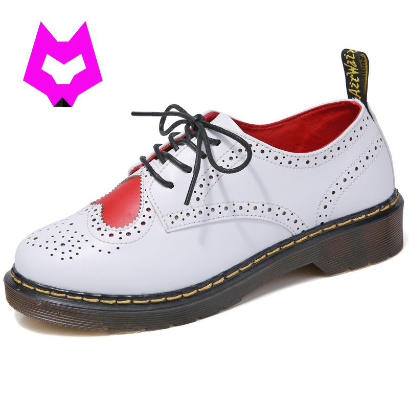 Baroque Shoes Genuine Leather Women Platform Heart shaped Brogue Shoes Female Casual lolita shoes womens oxfords ladies shoes<br>