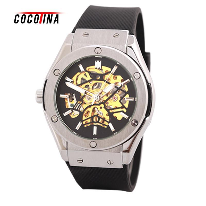 COCOTINA New men fashion brand 2016 elegant classic design mechanical automatic sport watch man wristwatch #WT0078<br>