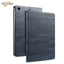 KISSCASE Leather Smart Sleep Cover For iPad Air 1 2 Ultra Thin Rock Stone Skin Flip Case Tablet Protector For iPad Air 1 2 9.7""