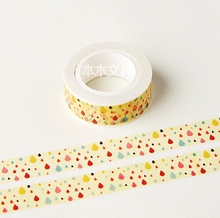 JG410 1.5CM Wide Colorful Ink Spot Washi Tape DIY Scrapbooking Sticker Label Masking Tape School Office Supply(China)