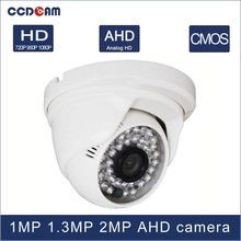 CCDCAM 1 MP 1.3 MP 2 Magepixel CCTV AHD HD Plastic Dome Camera for surveillance CCTV system(China)