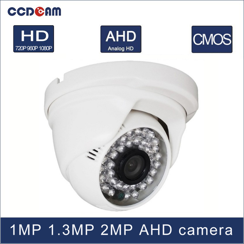 CCDCAM 1 MP 1.3 MP 2 Magepixel CCTV AHD HD Plastic Dome Camera for surveillance CCTV  system<br>