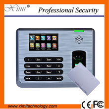 RFID card reader fingerprint time attendance system 3000 fingerprint users linux system time attendance