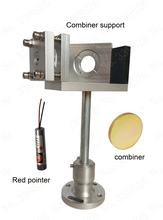 CO2 laser beam combiner support + 20mm beam combiner +red pointer  Whole set combiner system