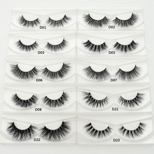 Mink Eyelashes 3D Mink Hair Lashes Wholesale 100% Real Mink Fur Handmade Crossing Lashes Thick Lash 11 Styles New Arrival 1 Pair