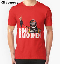 New Hot Kimi Raikkonen Lotus Victory T Shirts Men F1 Mens T Shirt Print Casual Euro Size Short Sleeve Man Tees Free Shipping