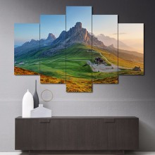 5 Piece Mountain grassland scenery Art Painting Modern Home Living Room Wall Decor HD Print Picture Photography Canvas Unframed