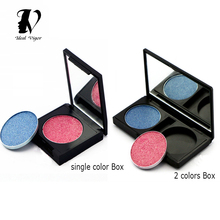 Ideal Vigor 2 Types Empty Magnetic Eyeshadow Palette DIY Makeup Box Concealer Aluminum Pans With Palette Makeup Tools(China)