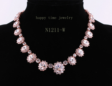 The bride adorn article luxury jewelry Mona Lisa zircon dinner women 2015women's fashion jewelry necklace factory outlet N1211-W