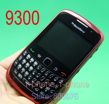 Original BlackBerry 9300 Curve Mobile Phone Blackberry OS Smartphone Unlocked 3G Wifi Bluetooth Cellphone & RED