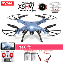 Syma X5HW Toys RC Quadcopter Drone With Camera FPV 2.4G 6-Axis RC Helicopters Pressure High Mode UAV Best Gifts For Kids