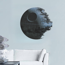 3d Planet Star wall stickers Broken Planet Death Star home decoration diy Creative living room print decals mural art poster(China)