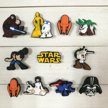 110pcs Star Wars Cartoon PVC Shoe Buckles Shoe Charms Fit Croc For Shoes&wristbands with Holes Furniture Accessories Kids Gifts(China)