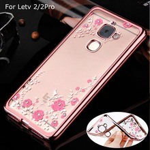 Luxury Flower Diamond Soft TPU Gel Case For Letv LeEco Le 2 X520 X620/le 2 Pro X25 X20/Le S3 x522 X622 Back Cover Silicon Case