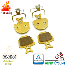 Bicycle Disc Brake Pads for FORMULA ORO K18 K24 PURO, for GIANT DA7 Disc Brake, 2 Pairs, Gold Full Metal